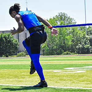 acceleration speed cord agility trainer football resistance band pitching accelerator bungee