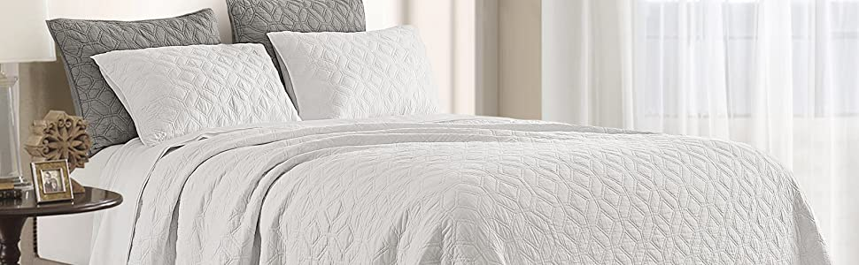 White Cotton Quilt King