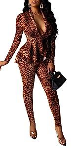 leopard 2 piece set
