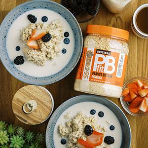 pbfit peanut butter peanut butter oatmeal betterbody foods