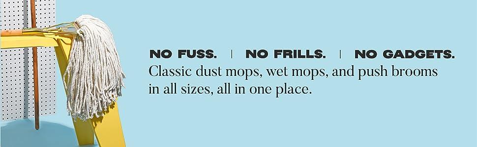 cotton floor mops push brooms