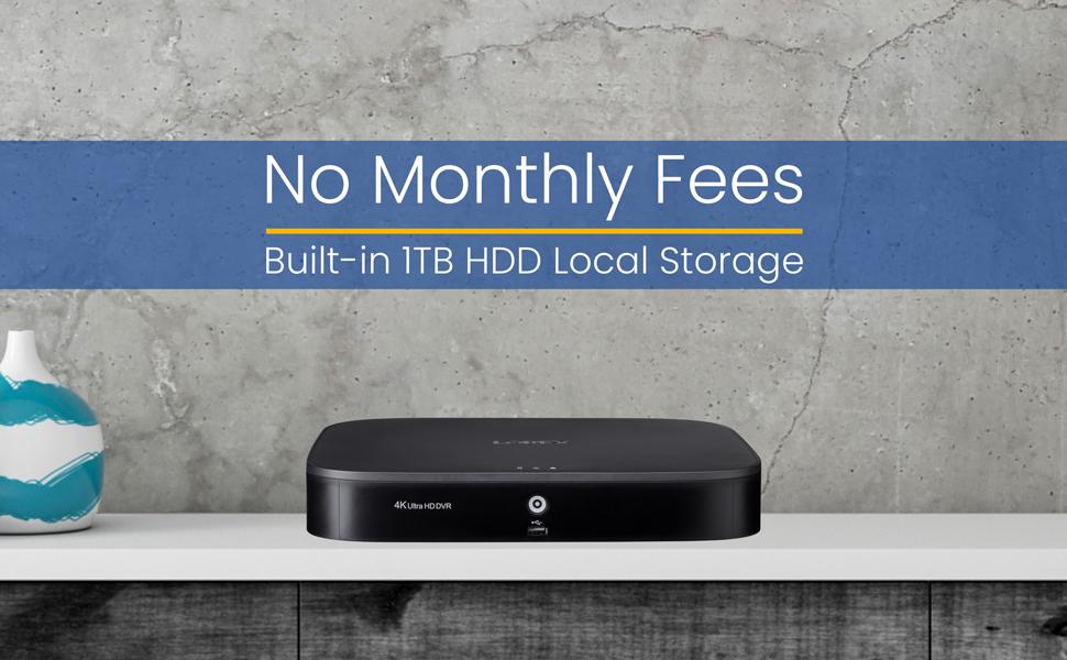 No monthly Fee, 1TB HDD Storage