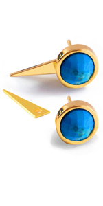 Beautiful  Solar Quartz Brown Gemstone Earring Electroplated Edge Boho Earring Design Gold Plated Earring 1 Pair Stone Size 40x25 mm Women,