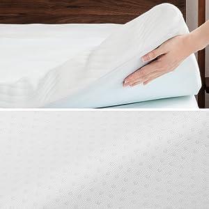 Correttore Materasso 90x190 con Altezza 7cm,Materassi Sottili Ortopedico a 7 Zone con Rivestimento Traspirante e Lavabile Bedsure Topper Singolo Memory Foam