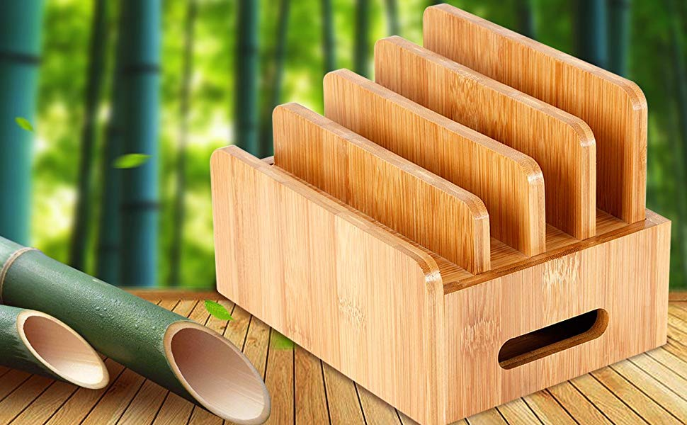 Bamboo Charging Station for Multiple Devices