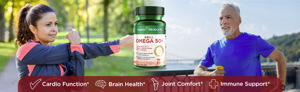 krill fish oil omega 3 6 9 phopholipids purity products 50+ plus vitamin d3 skin joints supplement