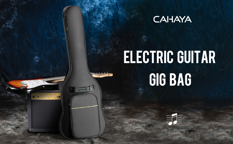 CAHAYA electric guitar bag gig bag padded soft guitar case 40 inch