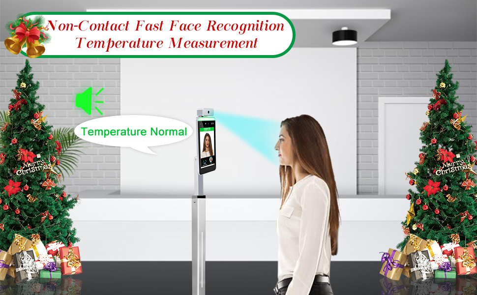 face recognition body temperature measurement system infrared body temperature scanner forehead