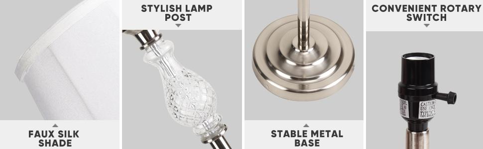 Graceful white lamp set of 3
