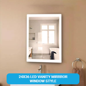 24X36 LED Vanity Mirrror Inner window style