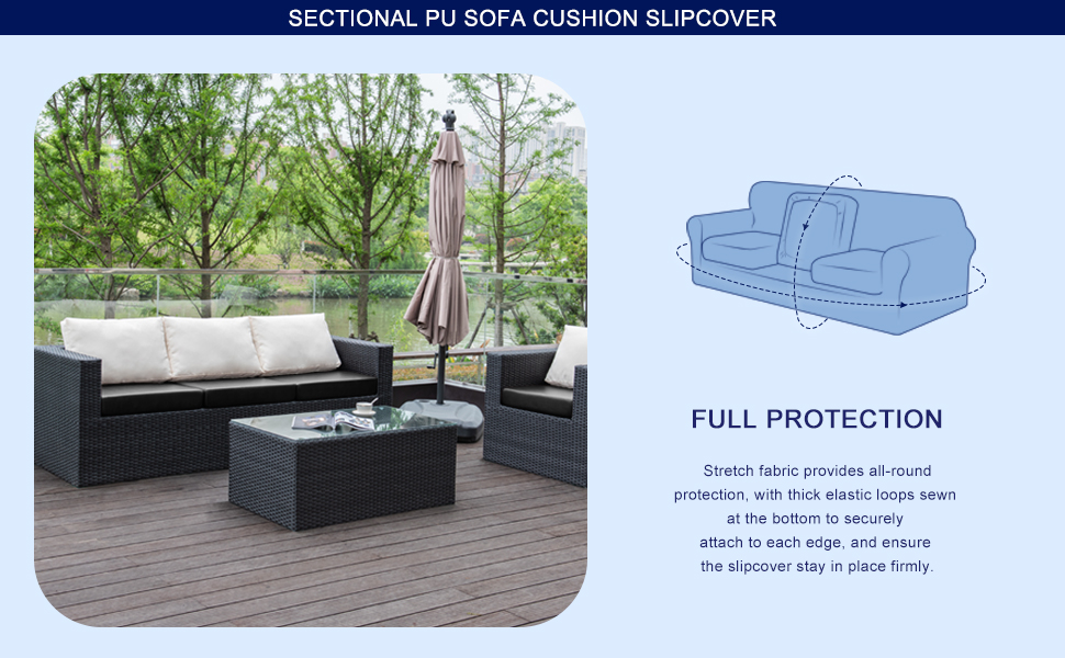 PU cushion cover