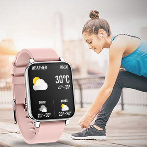 Rogbid smart watch Rowatch 2 weather display