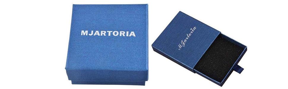 MJartoria gifts box for feather pendant leather choker