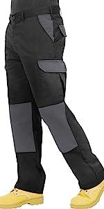 Mens Cargo Combat Work Carpenters Trouser, Pant, Multi holster pocket BKS worker, tradesman pant