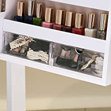 2PCS Acrylic Clear Drawers