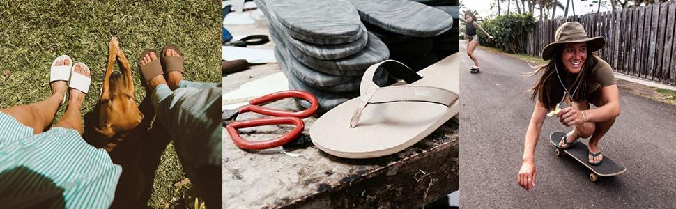 flip flops, indosole, recycled tires, vegan flip flops