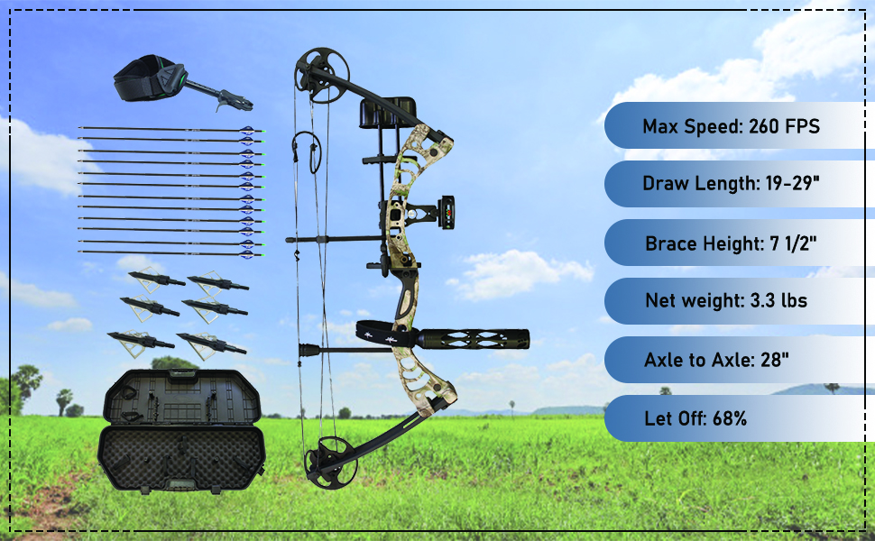 Southland Archery Supply Scorpii Compound Bow Bowfishing Target Hunting Youth Adults