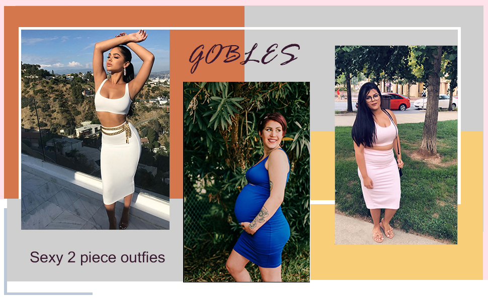 GOBLES sexy 2 piece outfits