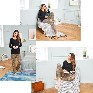 Ekouaer Soft Long Sleeve Pjamas for Women