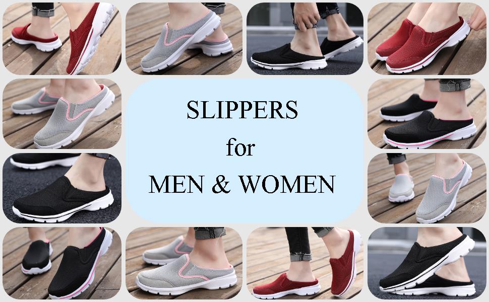 Women Men Clog Flat Comfy Indoor Sneaker House Outdoor Walking Casual Shoes Size