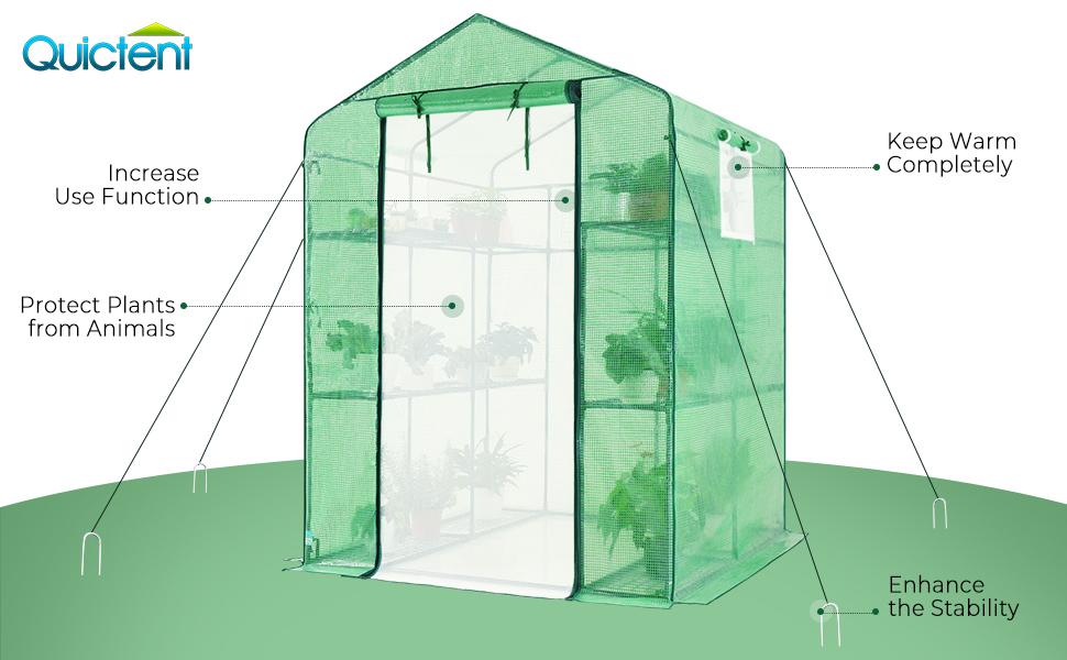Qucitent greenhouse