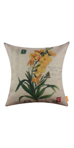 LINKWELL 18x18 inches Vintage American Country Flower Pillow Cover
