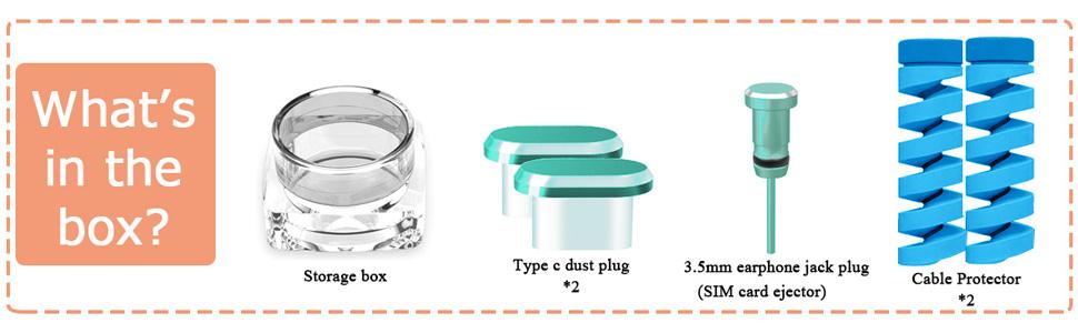 type c dust plugs gold