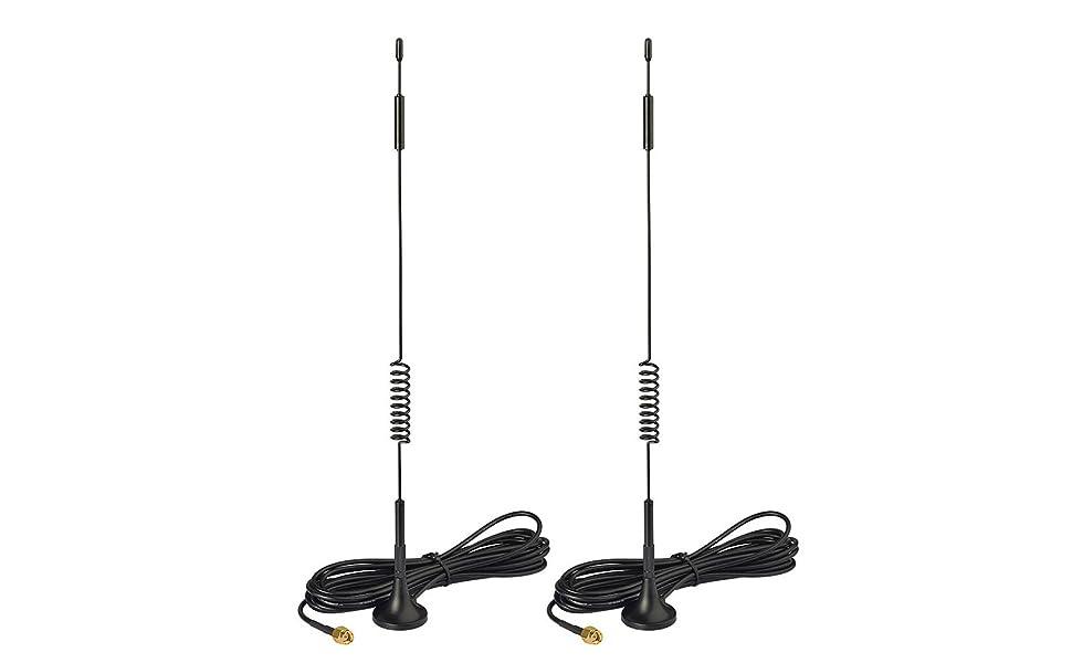 Bingfu 4G LTE 7dBi Magnetic Base MIMO SMA Male Antenna (2-Pack)