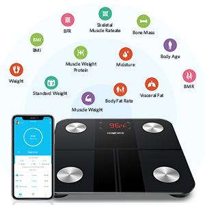 Smart Bluetooth Body Fat Scale