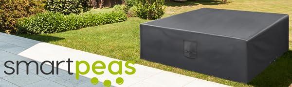 Funda Protectora para Muebles de jardín 170 * 100 * 70cm-recubierta de PVC-Impermeable/Resistente a los Rayos UV/Impermeable-con Aberturas de ...