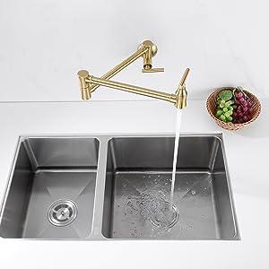 stretchable kitchen faucet
