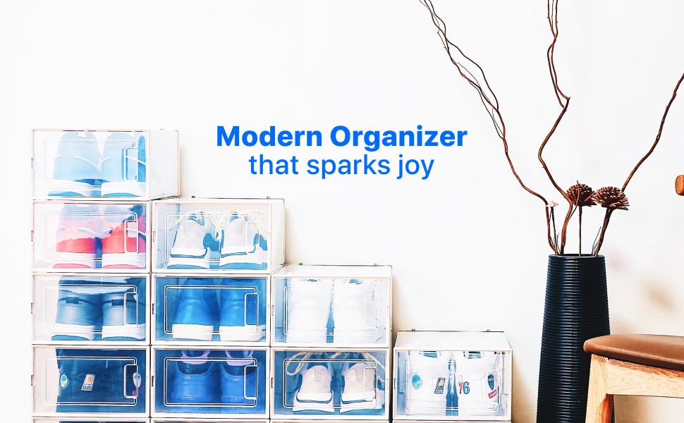 organizador de zapatos para armario armario de almacenamiento de zapatos entrada zapatero zapata frontal caja de zapatos