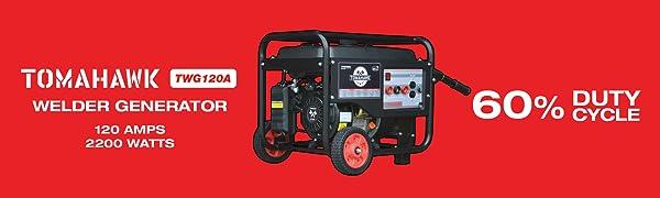 welder generator engine driven welder miller lincoln inverter watt amp amperage duty cycle % steady
