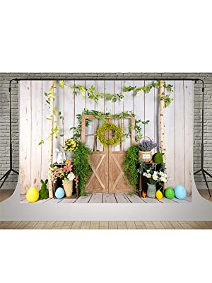 10x6.5ft Easter Party Dessert Table Scene Backdrop Polyester Cute Rabbit Toy Easter Cake Eggs Flowers Background Child Baby Adult Shoot Easter Egg Hunt Activities Video Studio Props