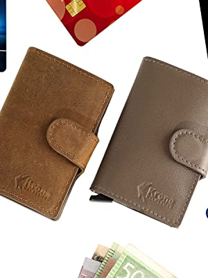 Krone Kalpasmos Crazy Horse Genuine Leather Pop-up Wallet