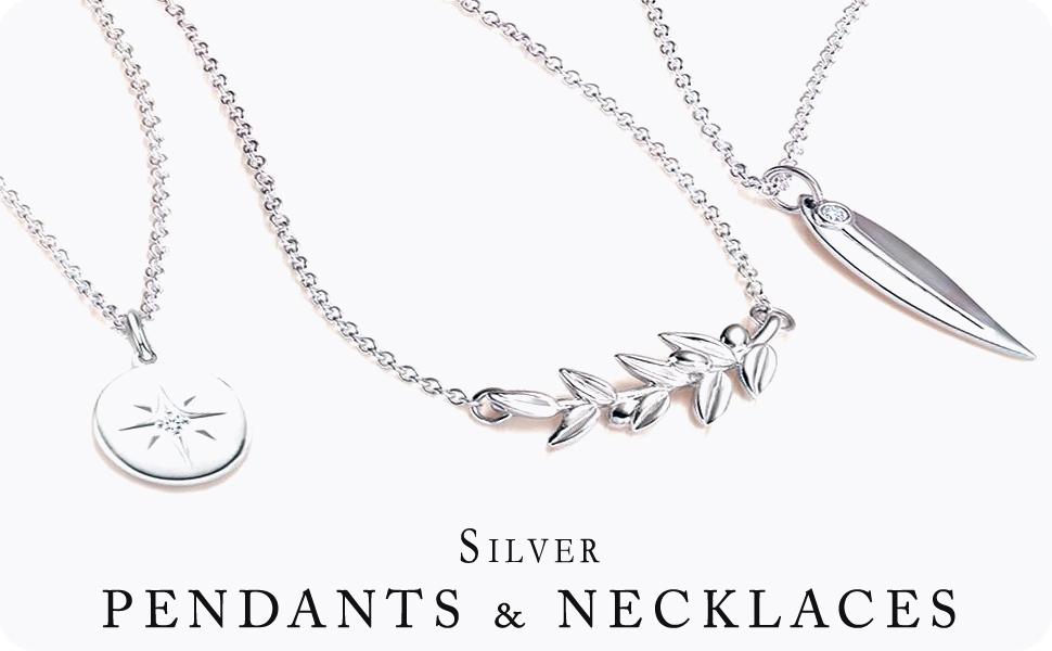 silver pendant necklaces for women