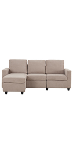Beige Sectional Sofa Couch