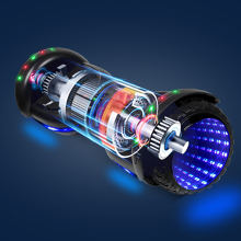 Flash hoverboard with powerful motor