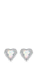 heart stud earrings for women girls