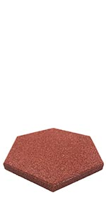 """Hexagon Garden Rubber Paver 16""""x16"""" for Patio Paver, Step Stone and Walk Way"""