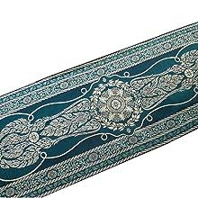 LST gold elegant bed scarf