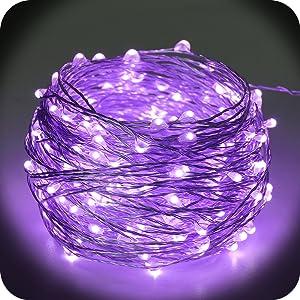 solar sring lights purple