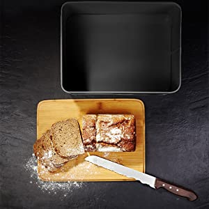 Lumaland Bread Box with cutting board lid