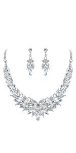 flower statement jewelry set for wedding