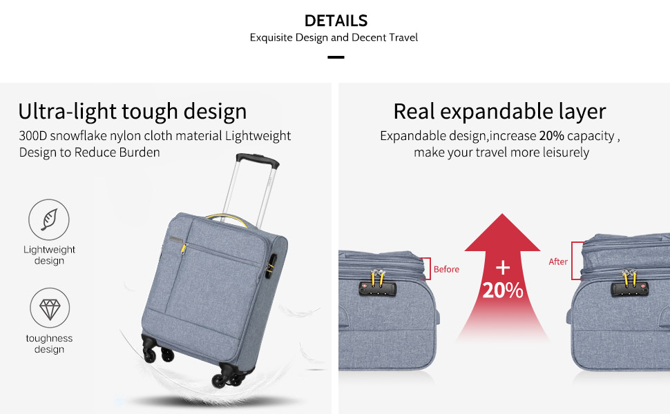 softshell luggage sets