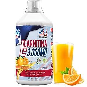 L-CARNITINE, L-CARNITINA Liquida 3000mg - Quemador de Grasa - Perder peso, American Suplement - 1litro …