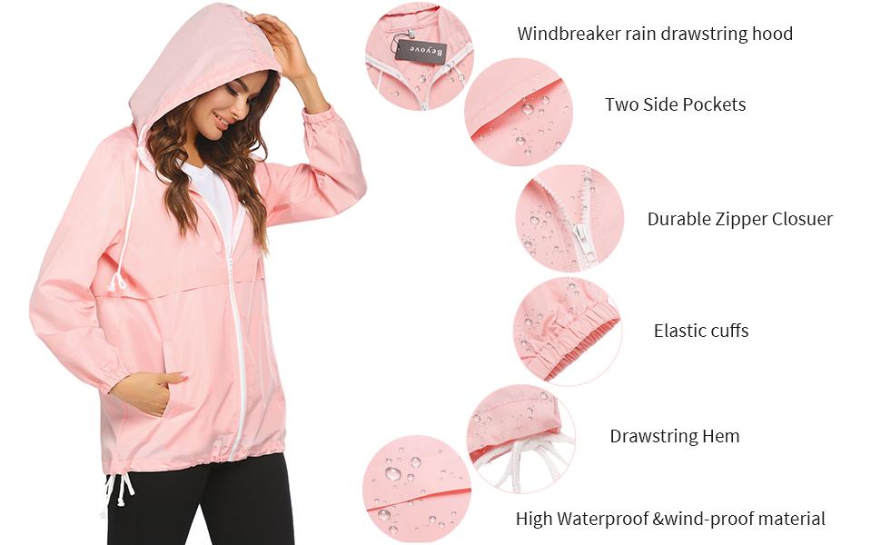 Lightweight Rain Jacket Hooded