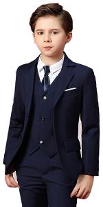 Boihedy Boys Suits for Kids Formal 5 Piece Dress Suit Set Complete Outfit