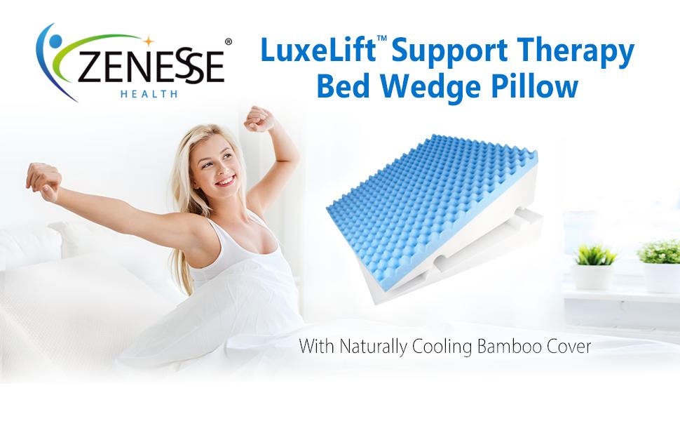 wedge pillow bed sleeping adjustable acid reflux gerd foam incline back medical large 30 degree