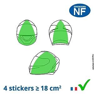 casque, sticker, placement, homologué, homologuation